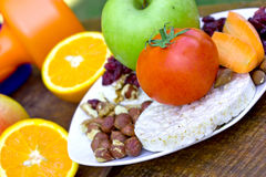Snack for athletes (meal) Royalty Free Stock Images