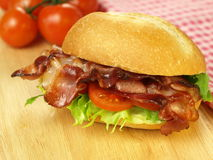 Snack with bacon Stock Images