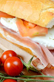 Snack baguette Stock Image
