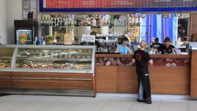 Snack bar stock video