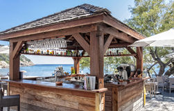 Snack bar on the beach Royalty Free Stock Photography