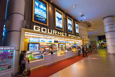 Snack bar do cinema fotografia de stock royalty free