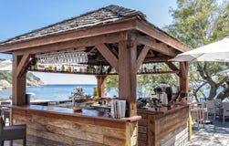Snack bar en la playa Fotografía de archivo libre de regalías