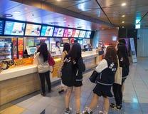 Snack bar en Lotte Cinema Yongsan, Seul imagenes de archivo