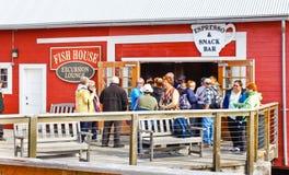 Snack bar gelado do ponto do passo de Alaska fotografia de stock royalty free