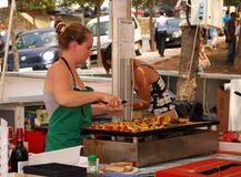 Snack bar, Marbella. Royalty Free Stock Images