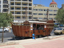 Snack Bar. Sliema, Malta - 3rd July, 2015: Mobile snack bar on the promenade of Sliema. Sliema is the tourist area which is just across the harbour from Valletta Royalty Free Stock Photos
