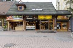 Snack bar in Zakopane Fotografie Stock