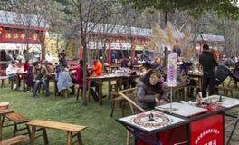 Snack bars in 2016 sun festival-lantern festival in chengdu,china Stock Photography