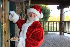 Snack Bearing Santa Royalty Free Stock Photos