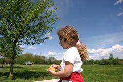 Snack bij het park stock afbeeldingen