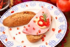 Snack of bread Stock Photo