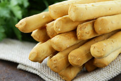 Snack bread sticks with sesame Stock Images