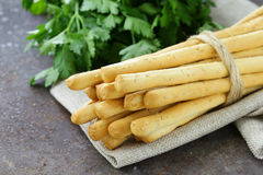 Snack bread sticks with sesame Royalty Free Stock Photography