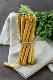 Snack bread sticks with sesame Royalty Free Stock Images