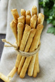 Snack bread sticks with sesame Stock Photo