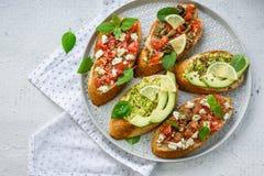 Snack bruschetta. stock image