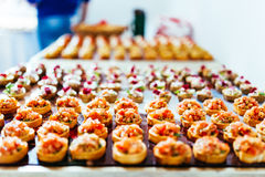 Snack buffet Stock Images