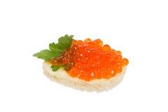 Snack with caviar. Stock Image