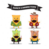 Snack characters -  Royalty Free Stock Photo