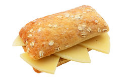 Snack of cheese. Crunchy and tasty snack of cheese cut off and isolated Royalty Free Stock Image