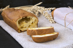 Snack cheese bread. Snack Pie: cheese bread with black pepper Stock Photography