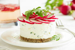 Snack-cheesecake made ��from cottage Stock Image