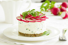 Snack-cheesecake made ��from cottage Stock Photos