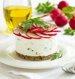 Snack-cheesecake made ​​from cottage Stock Image
