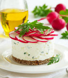 Snack-cheesecake made ​​from cottage cheese Stock Photography