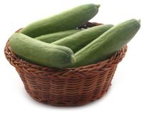 Snack cucumber. Over white background Stock Image