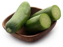 Snack cucumber. Over white background Royalty Free Stock Photos