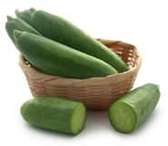 Snack cucumber. Over white background Stock Images