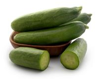 Snack cucumber. Over white background Royalty Free Stock Image