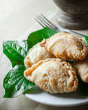 Snack of curry puffs closup Royalty Free Stock Image