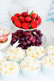 Snack and dessert table Royalty Free Stock Photo