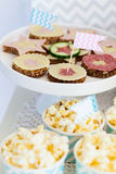 Snack and dessert table Stock Image