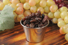 Snack dish of raisins Royalty Free Stock Photography