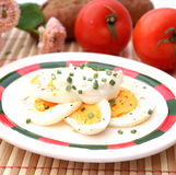 A snack of eggs Royalty Free Stock Photos