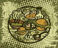 Snack en sandwiches Royalty-vrije Stock Afbeelding