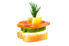 Snack with fish and limon Royalty Free Stock Photo