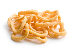 Snack flavored with onion rings. The snack flavored with onion rings Royalty Free Stock Photography