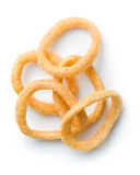 Snack flavored with onion rings Royalty Free Stock Photos