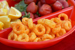 Snack Food in Divided Bowl Royalty Free Stock Photography