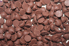 Snack Food Macro. Chocolate chips - Snack food macro Royalty Free Stock Image