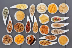 Snack Food Selection Stock Photography