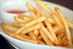 Snack french fries Stock Images