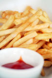 Snack french fries. With tomato sauce Royalty Free Stock Photos
