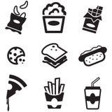Snack-Ikonen Lizenzfreies Stockbild