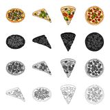 Snack, ingredients, ration and other web icon in cartoon style.Pizza food, treats, icons in set collection. Royalty Free Stock Photo